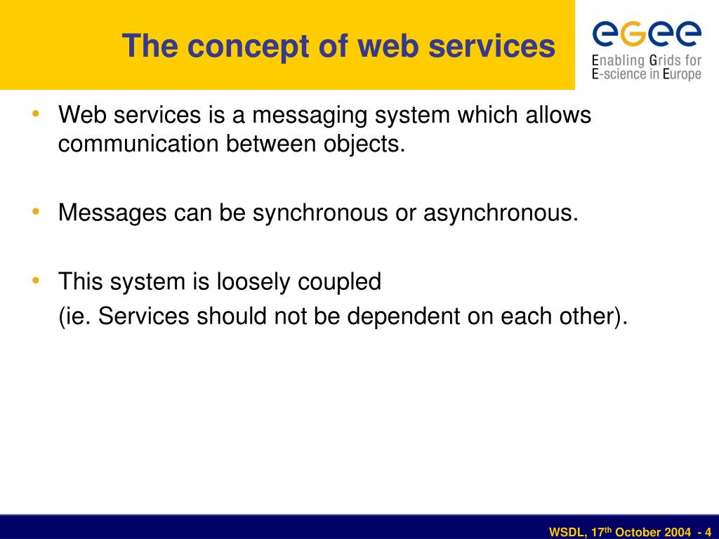 The concept of web services