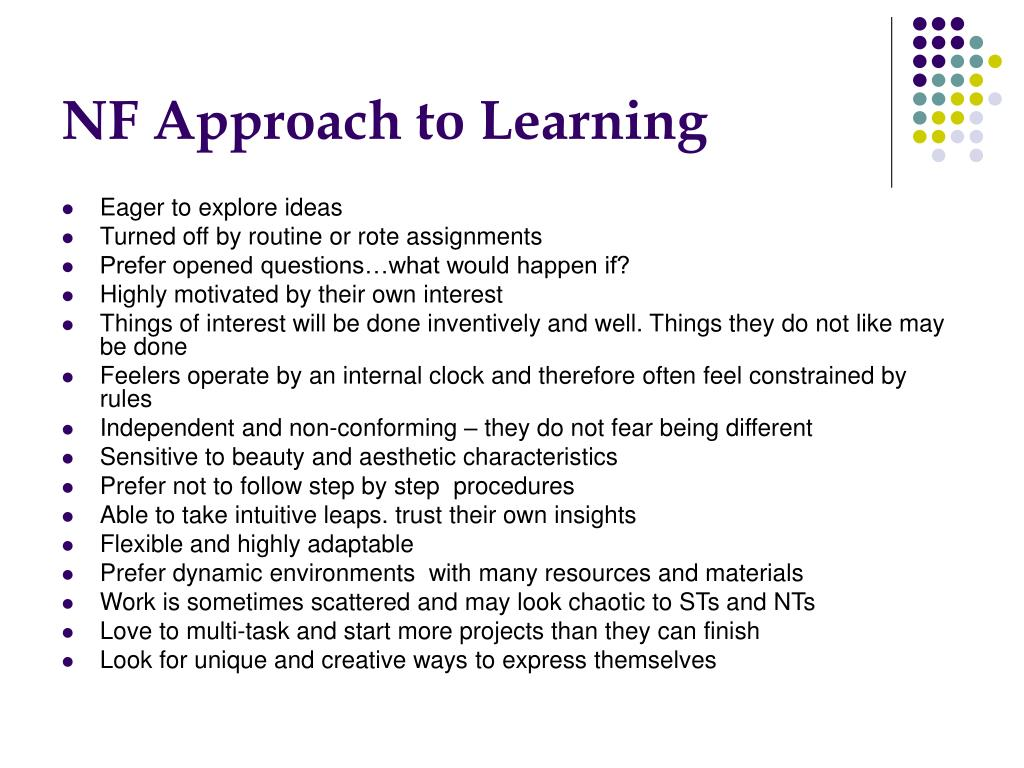 NF Approach to Learning