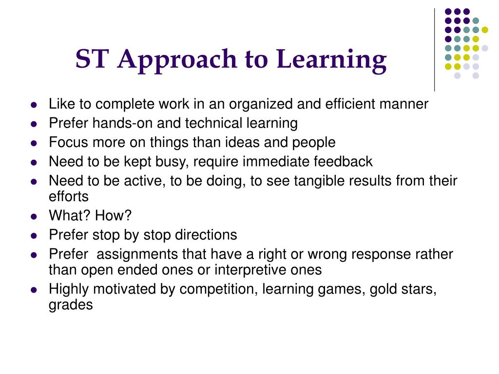 ST Approach to Learning
