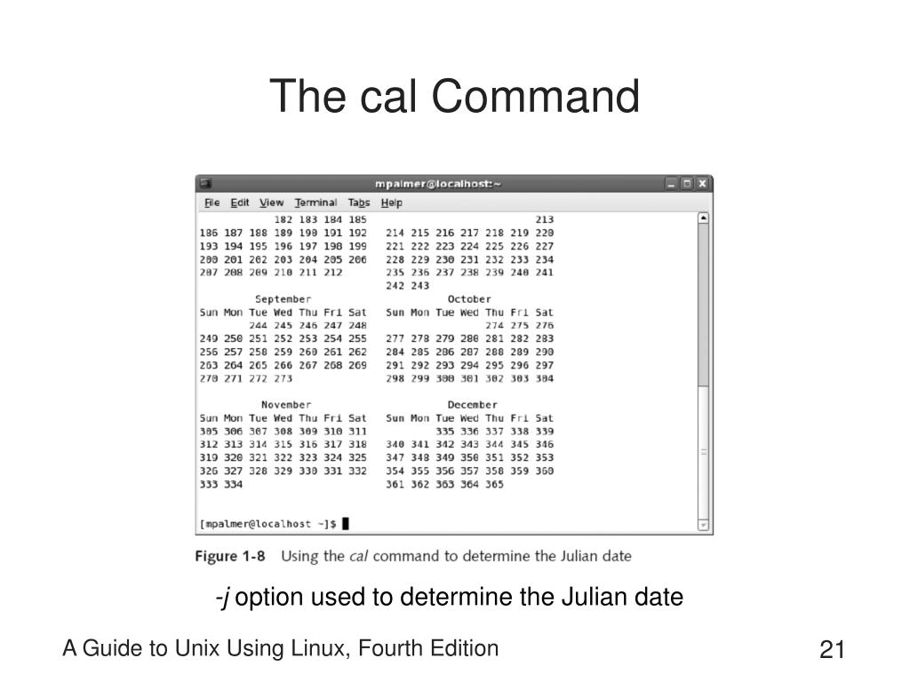 The cal Command