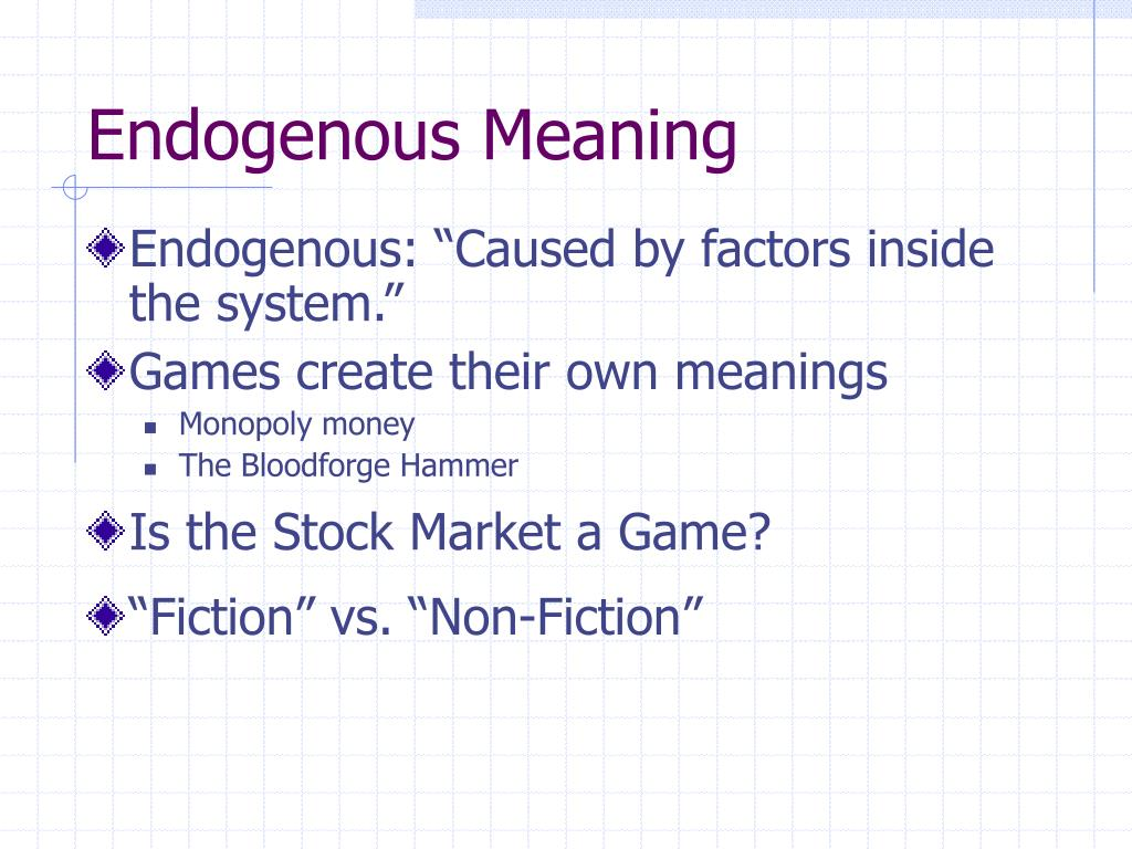 Endogenous Meaning