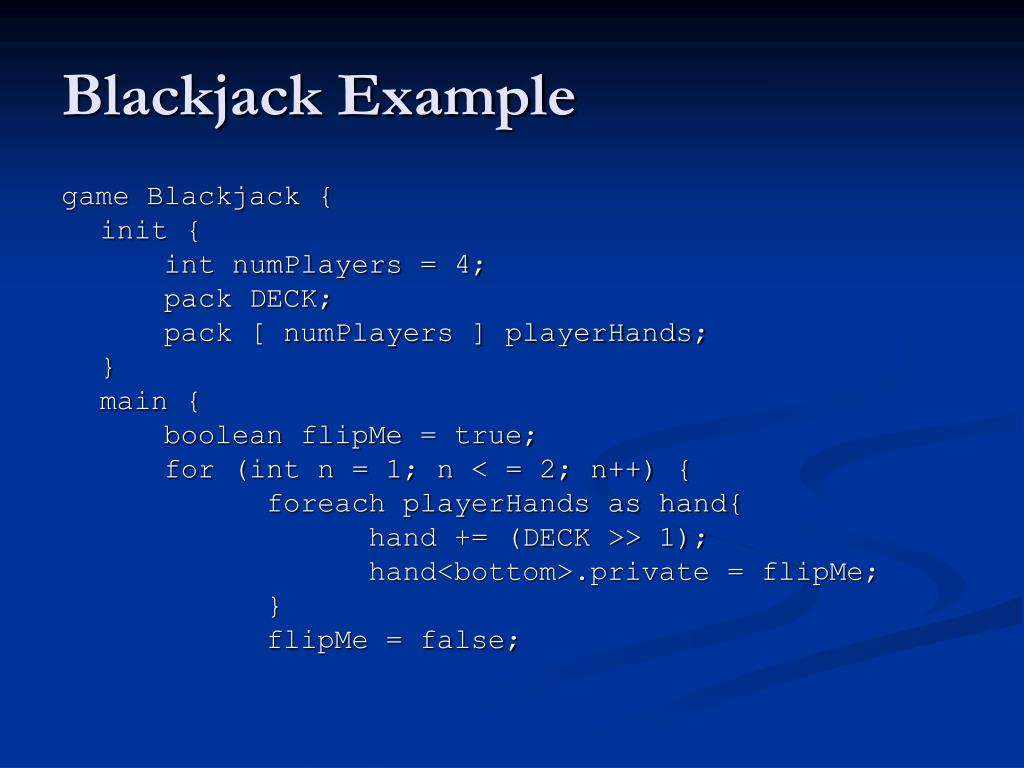 Blackjack Example