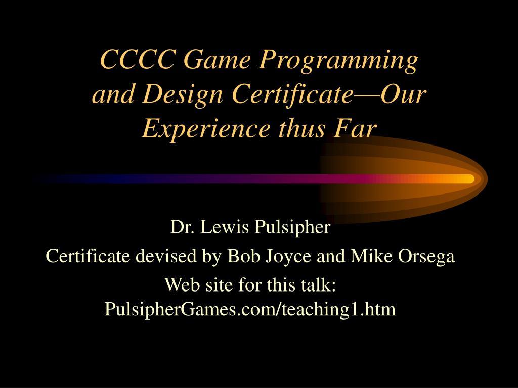 CCCC Game Programming