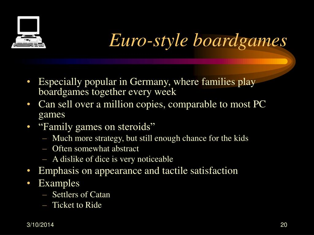 Euro-style boardgames