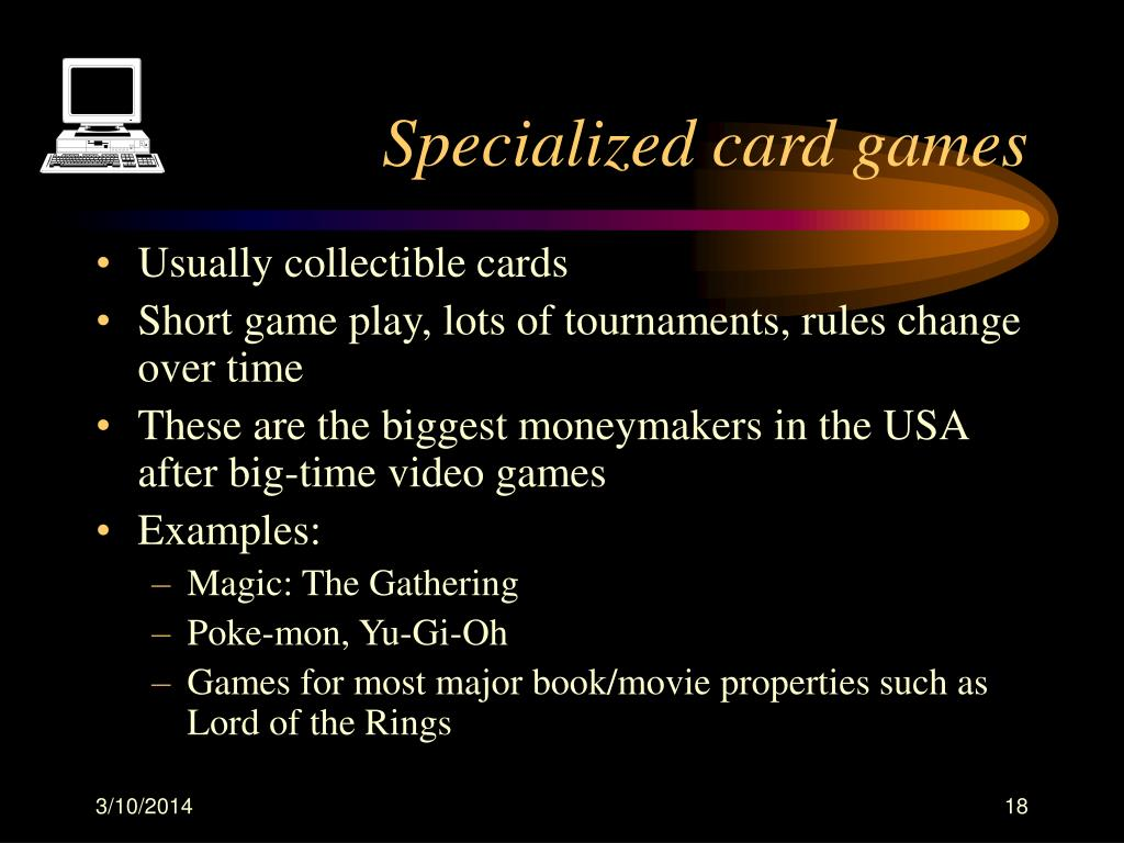 Specialized card games