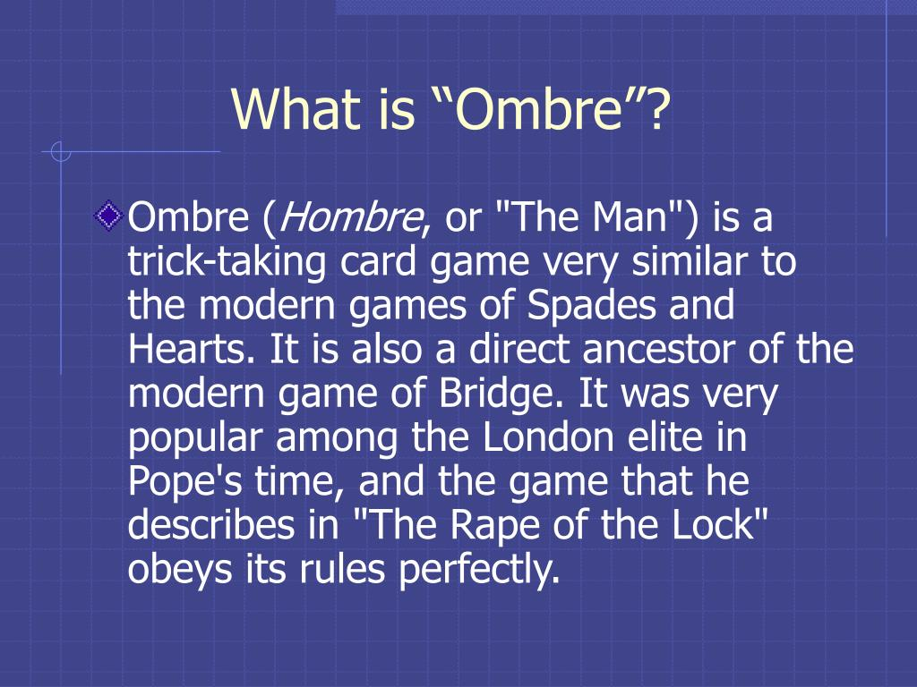 """What is """"Ombre""""?"""