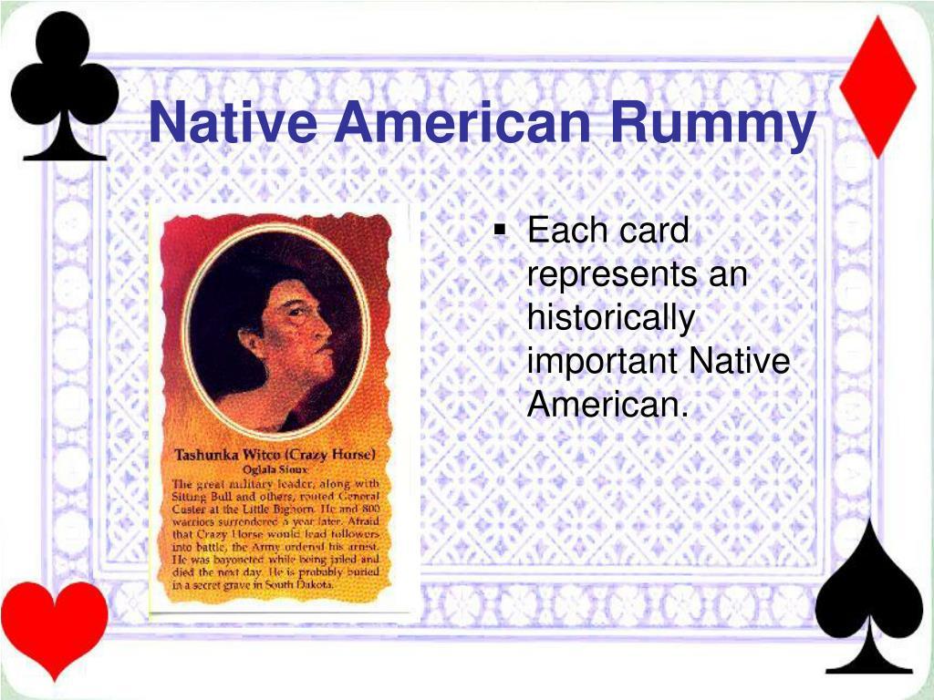 Native American Rummy