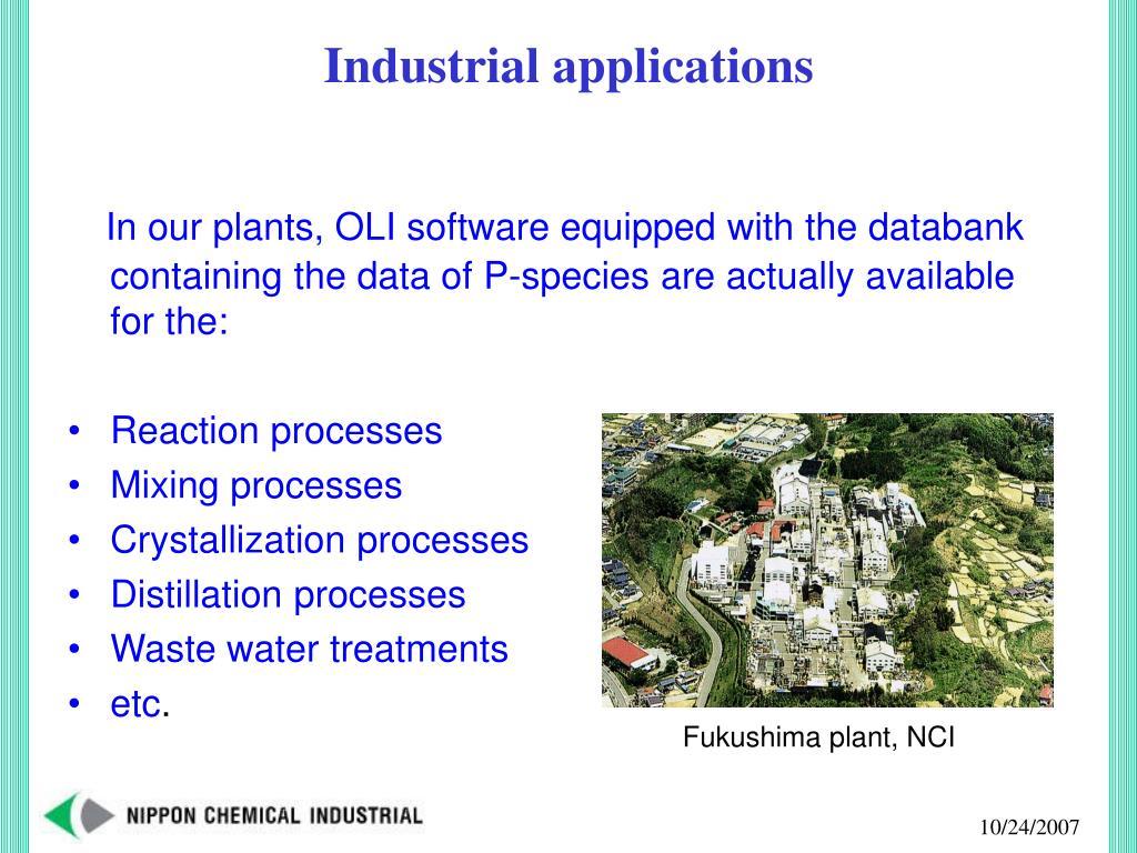 Fukushima plant, NCI