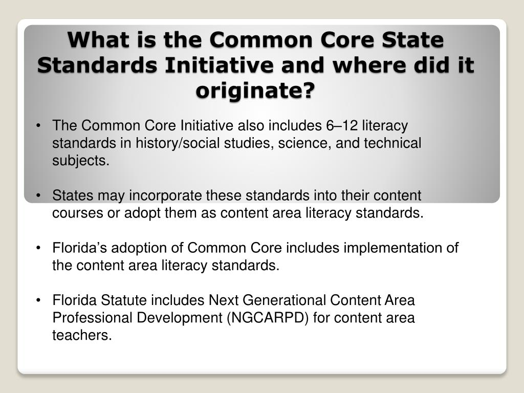 What is the Common Core State Standards Initiative and where did it originate?