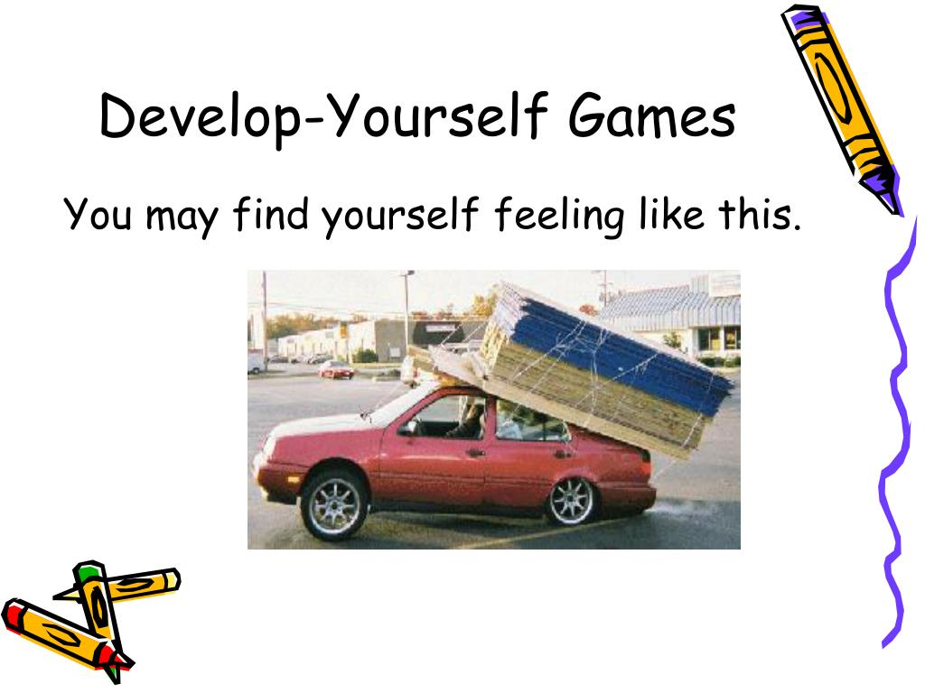Develop-Yourself Games