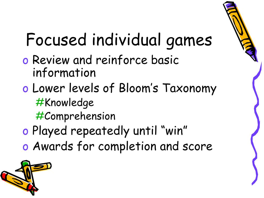 Focused individual games