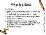 what is a game