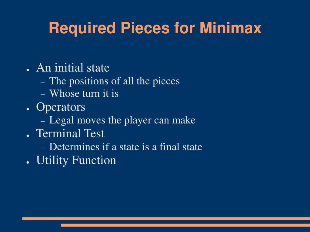 Required Pieces for Minimax