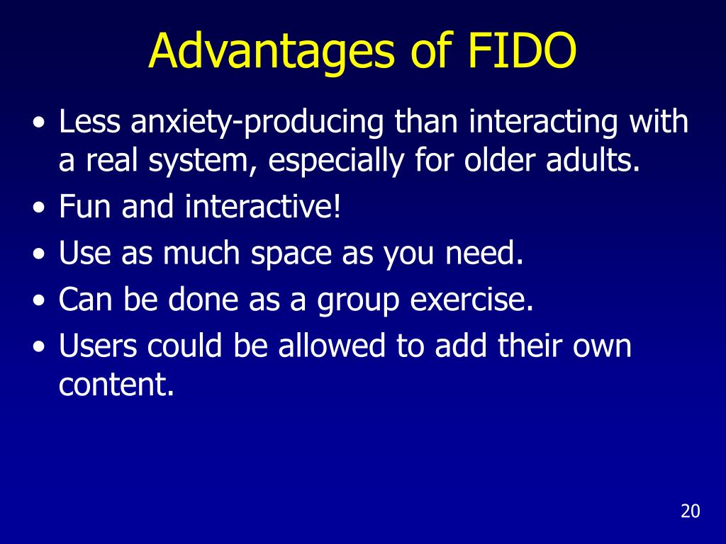 Advantages of FIDO