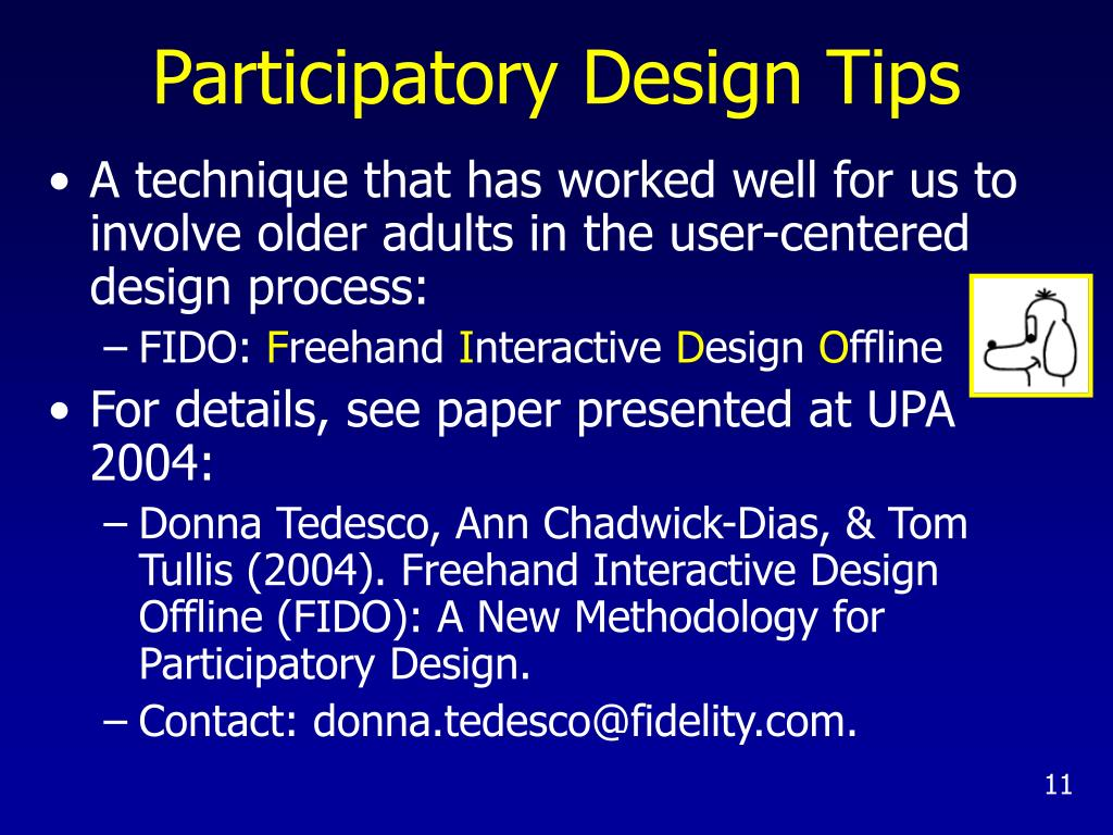 Participatory Design Tips