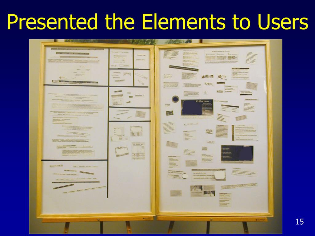Presented the Elements to Users