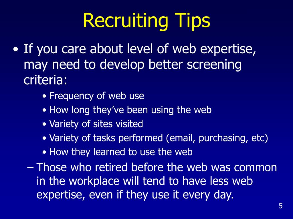 Recruiting Tips