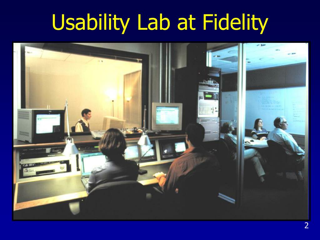 Usability Lab at Fidelity