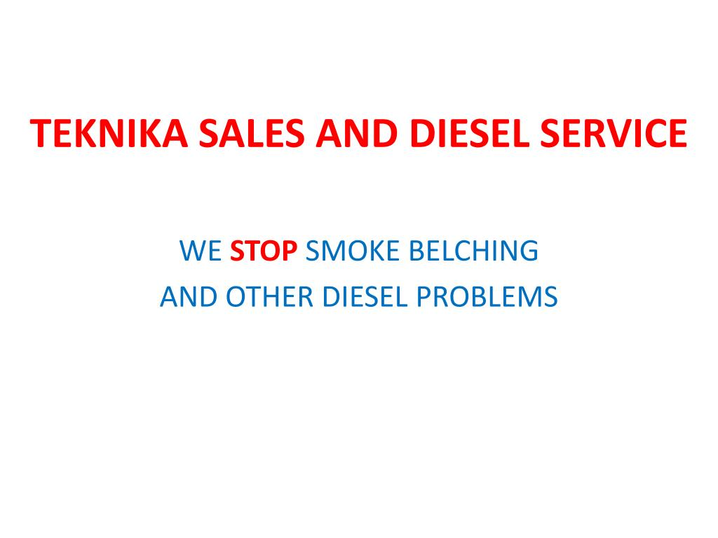 TEKNIKA SALES AND DIESEL SERVICE