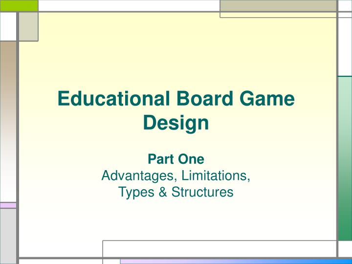 Educational board game design