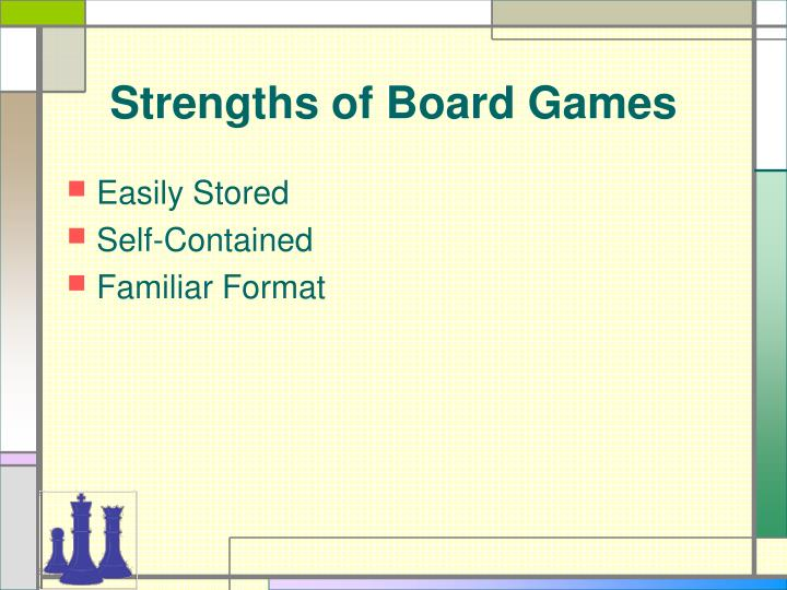 Strengths of board games
