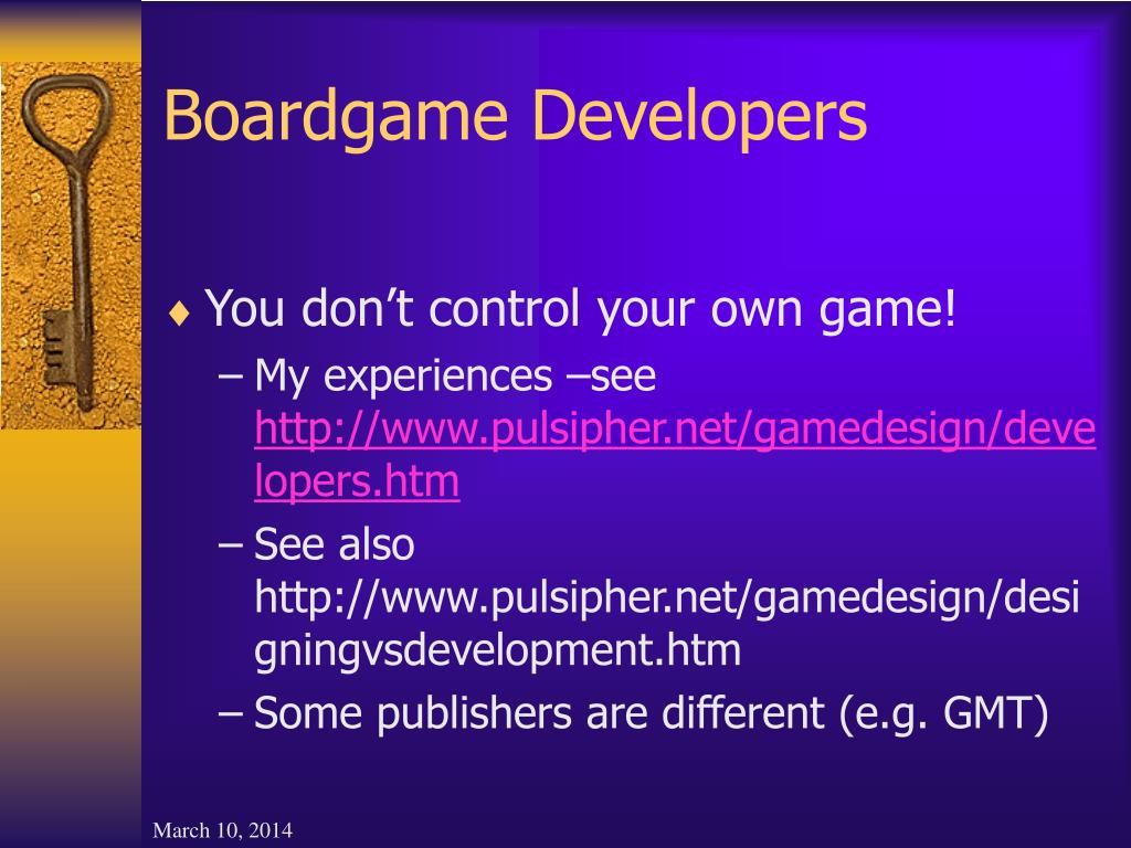 Boardgame Developers