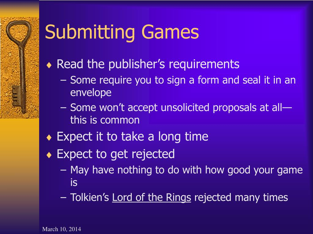 Submitting Games