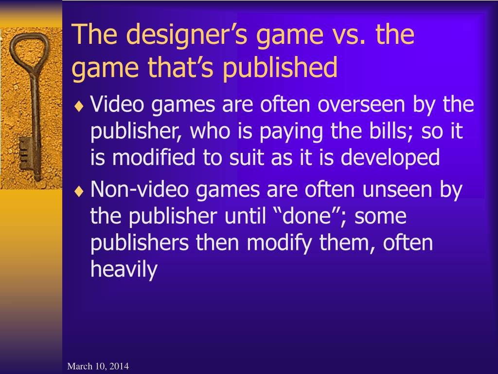 The designer's game vs. the game that's published