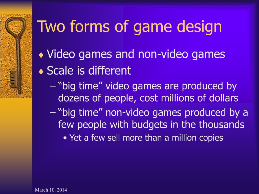 Two forms of game design