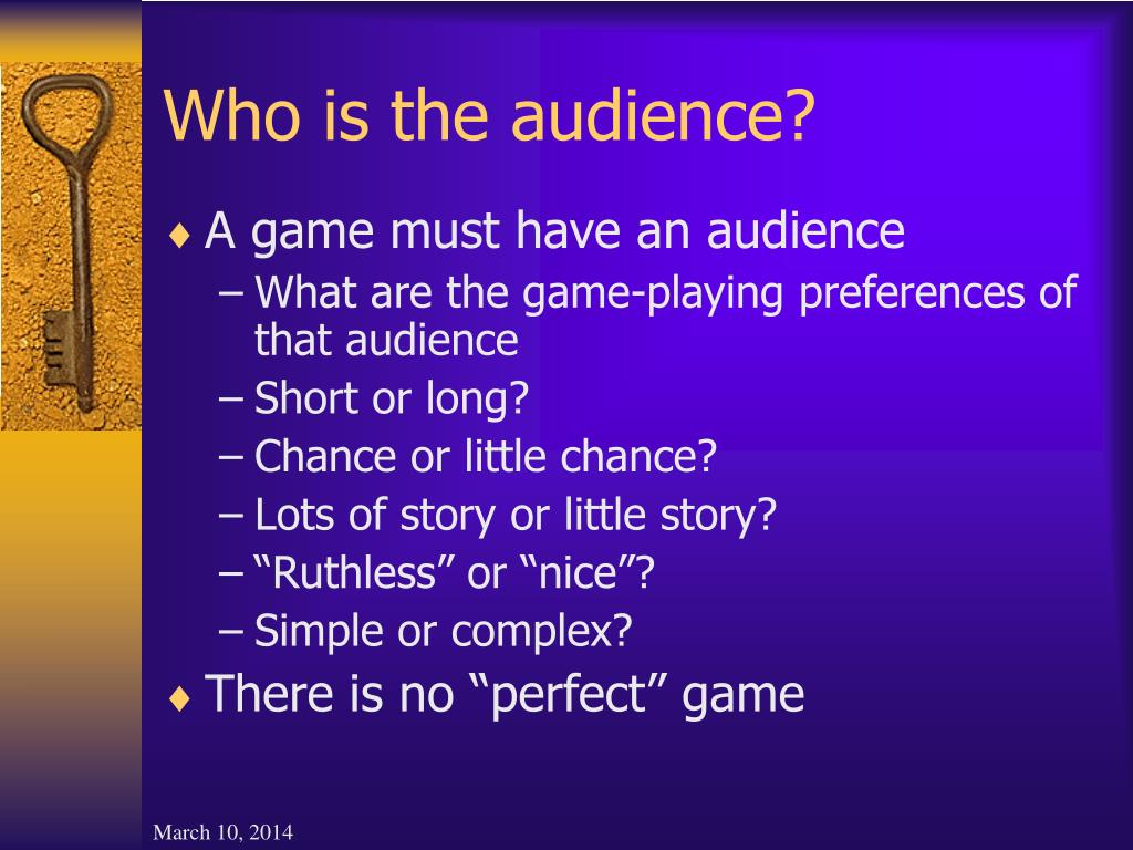 Who is the audience?