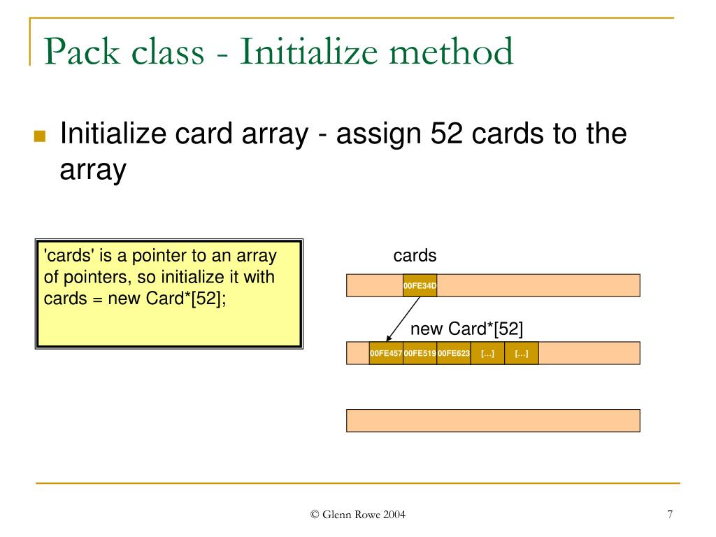 Pack class - Initialize method