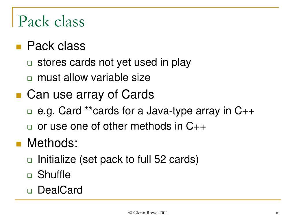 Pack class