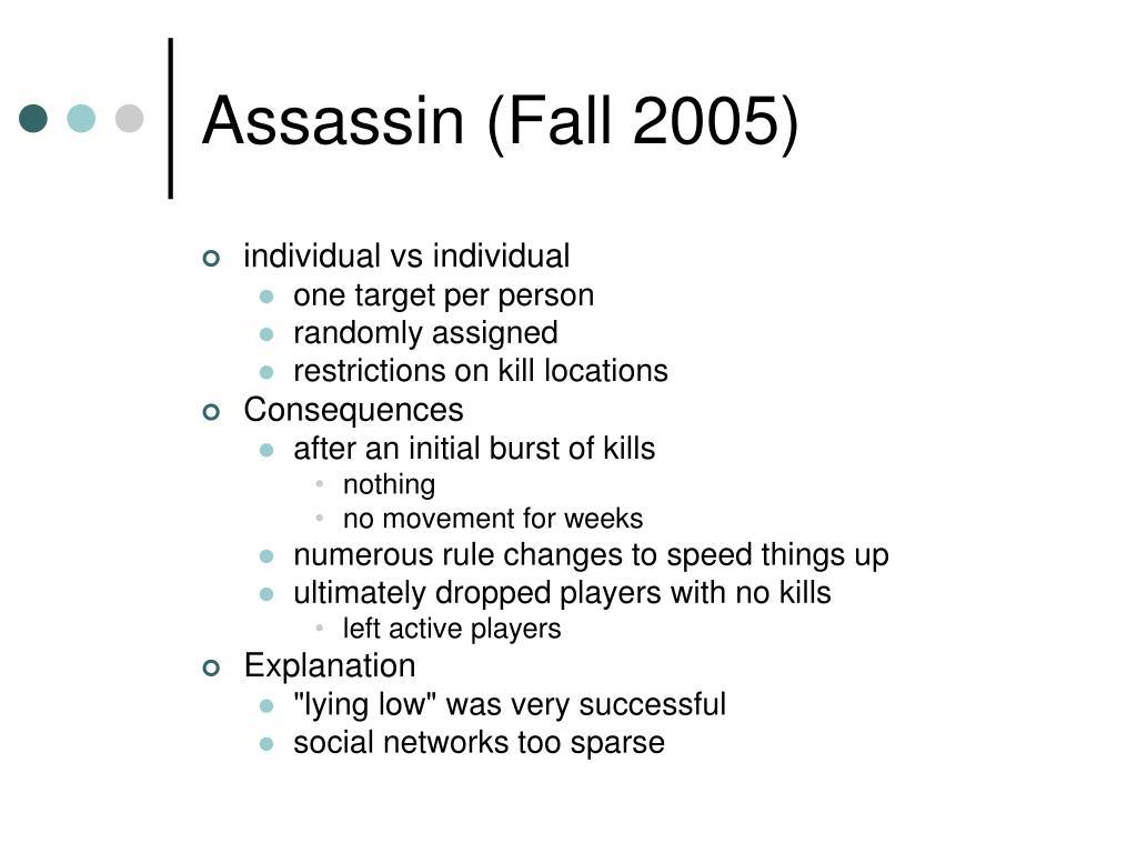 Assassin (Fall 2005)
