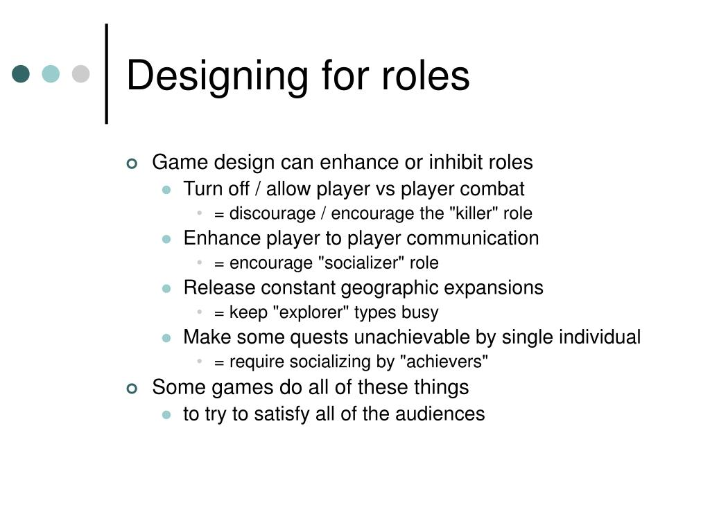 Designing for roles