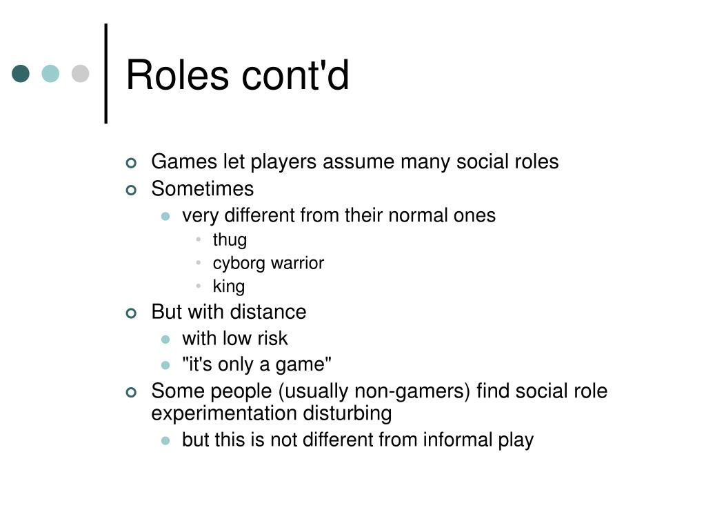 Roles cont'd