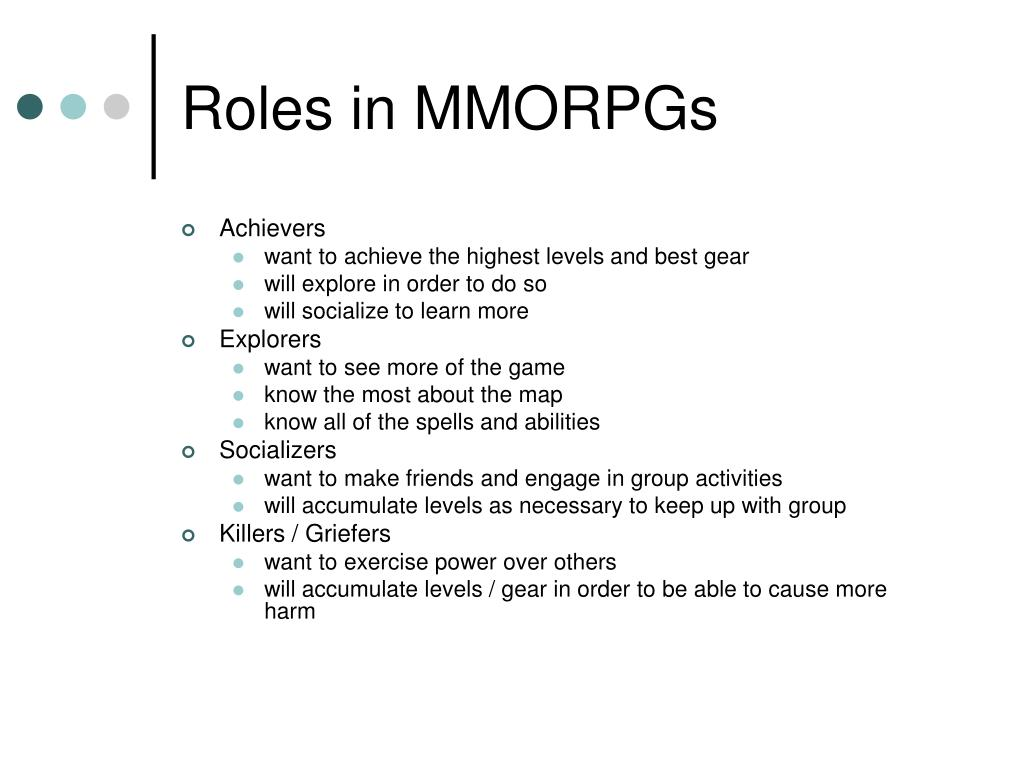 Roles in MMORPGs