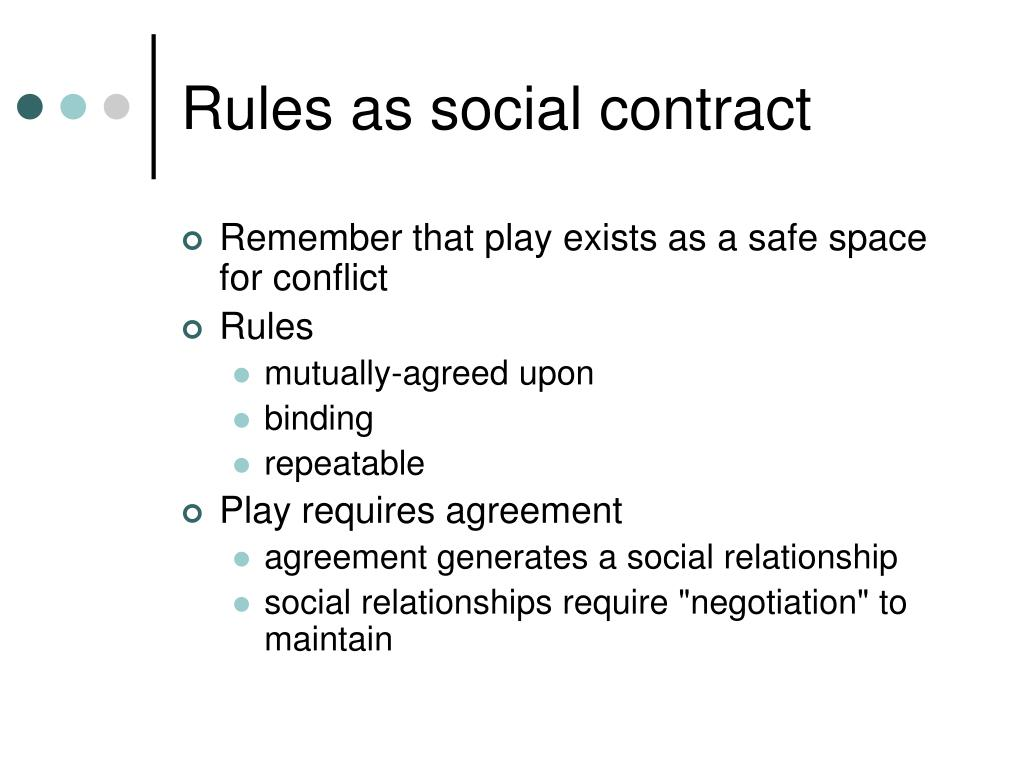 Rules as social contract