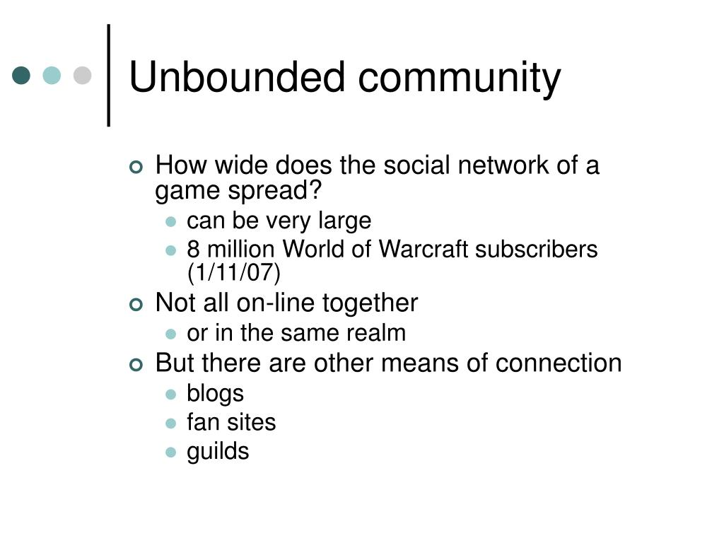 Unbounded community