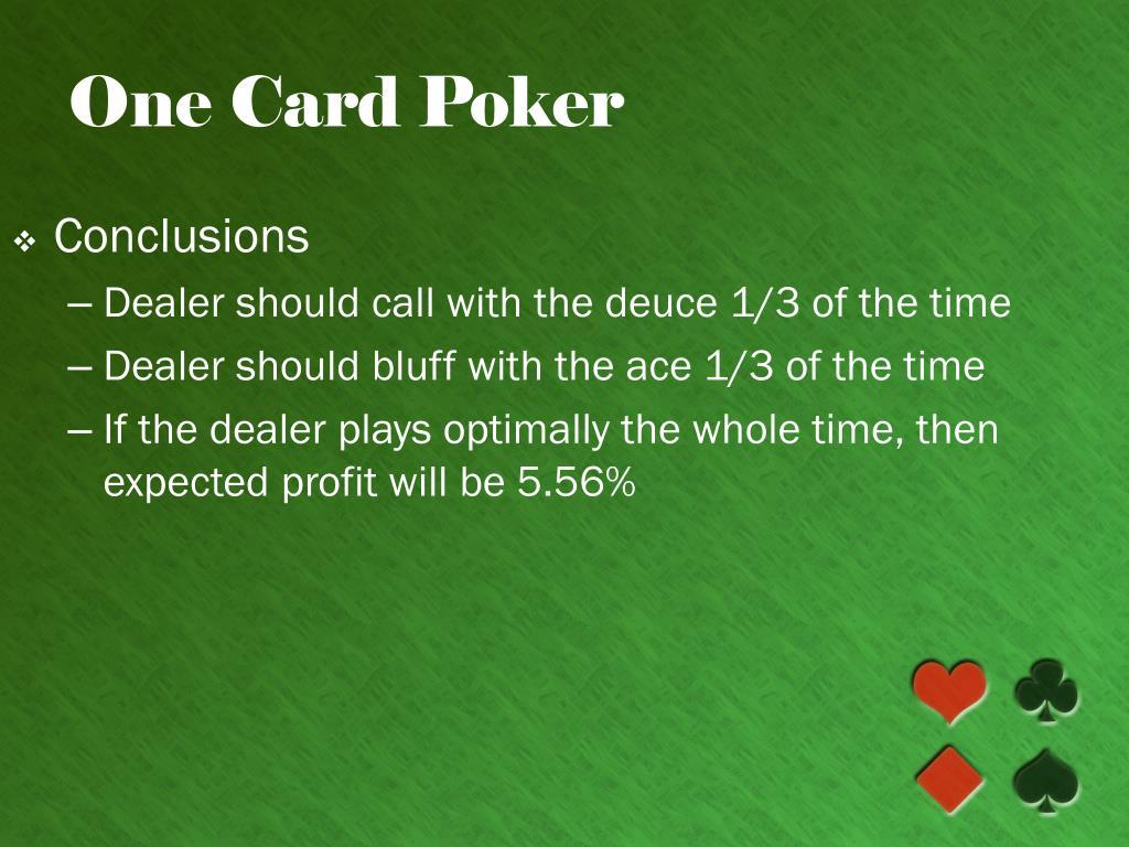 One Card Poker