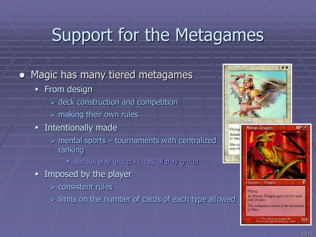 Support for the Metagames