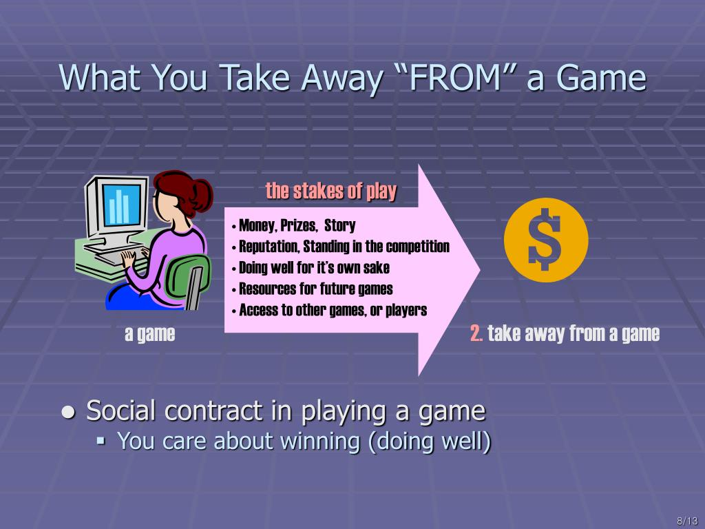 "What You Take Away ""FROM"" a Game"