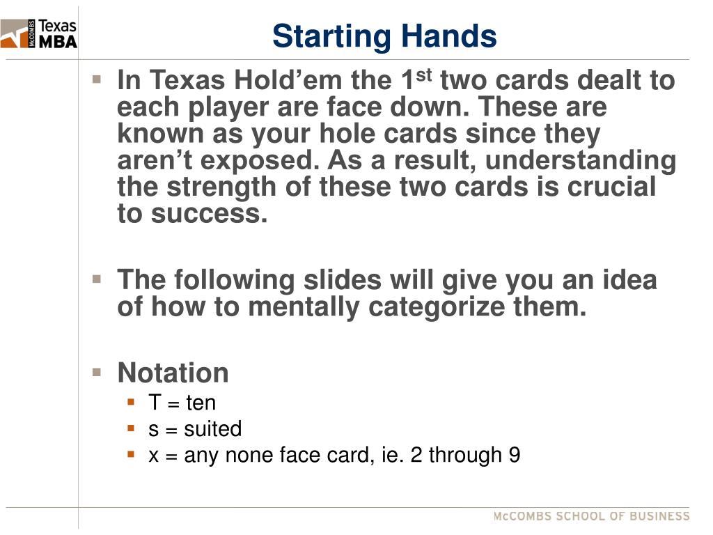 Starting Hands