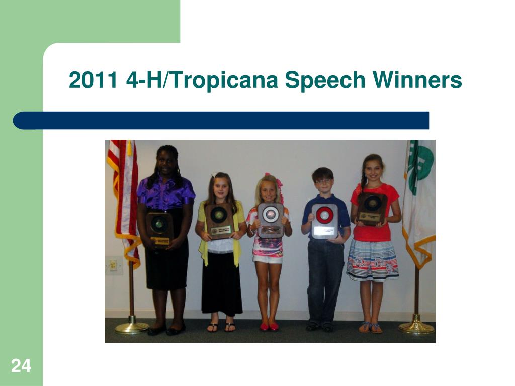 2011 4-H/Tropicana Speech