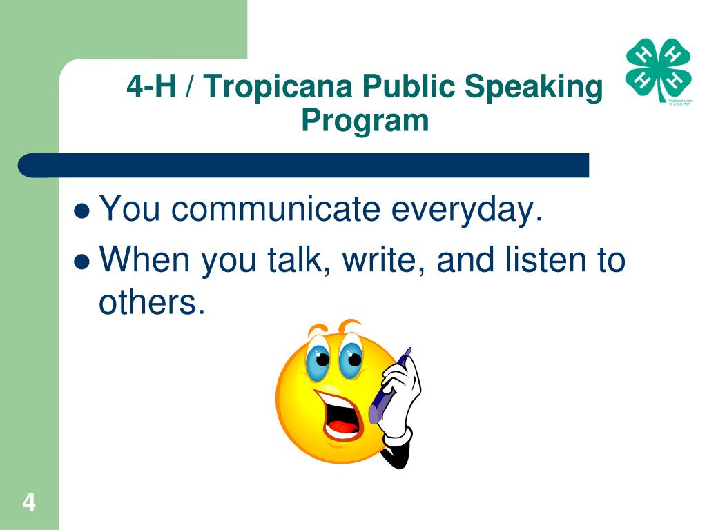 4-H / Tropicana Public Speaking Program