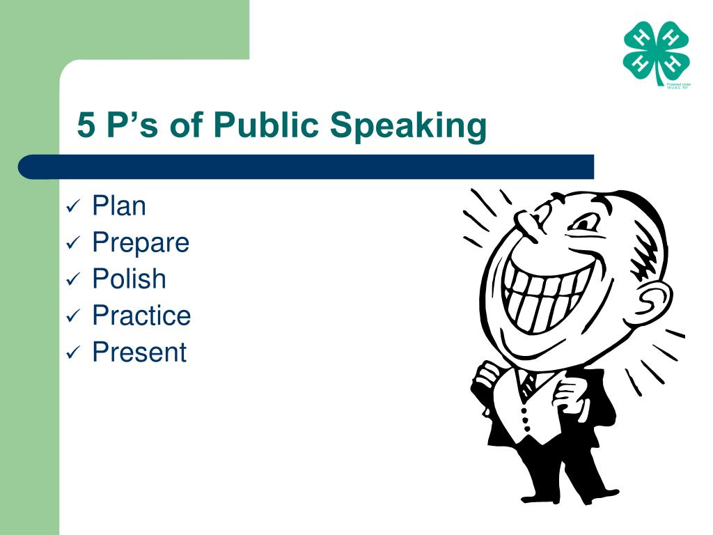 5 P's of Public Speaking