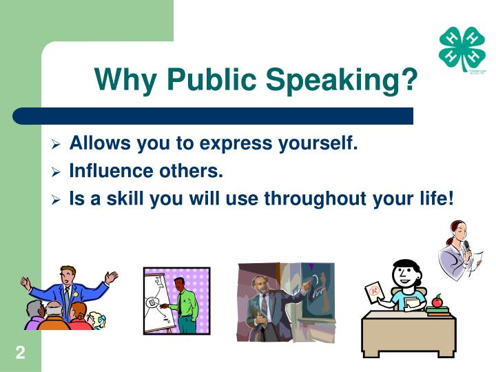 Why public speaking