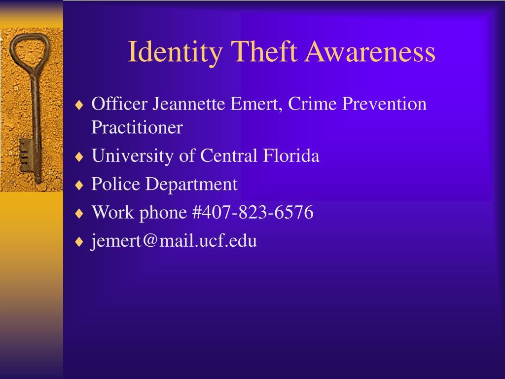 Identity Theft Awareness