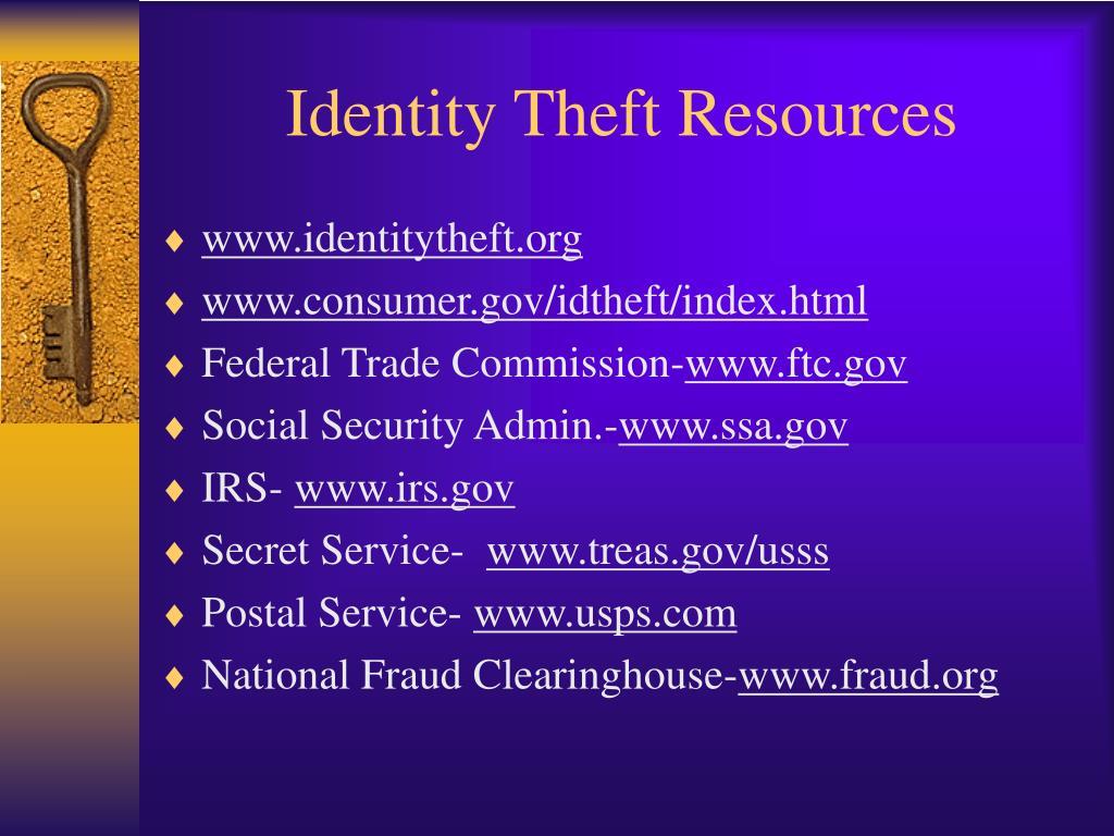 Identity Theft Resources