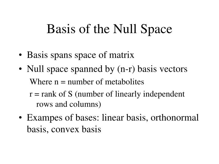 Basis of the Null Space