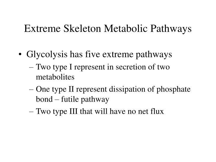 Extreme Skeleton Metabolic Pathways